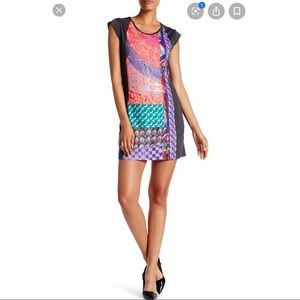 Desigual Gris Vigore Oscuro Suave Cap Sleeve Dress